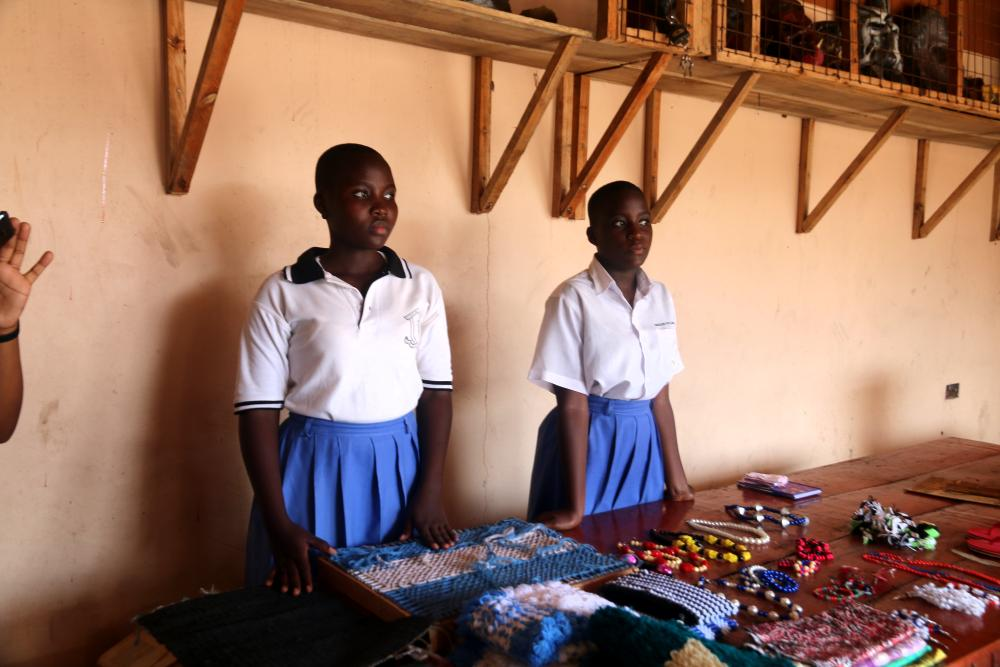 arts and crafts at St Kizito High School