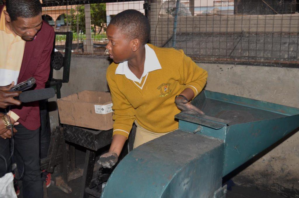 briquettes production at St Kizito High School